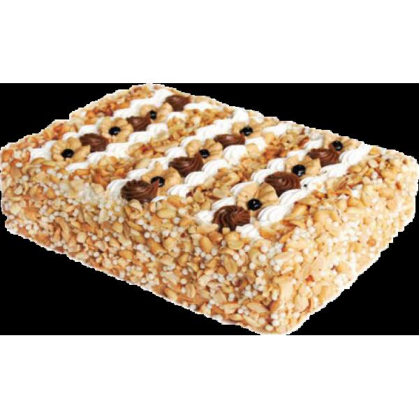 Торт бисквитный  'Сникерс ' 1,5 кг (ШТРИХ-КОД)