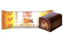 Конфеты курага с орехом в кондитерской глазури