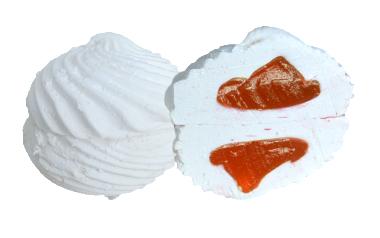 зефир с апельсиновым наполнителем