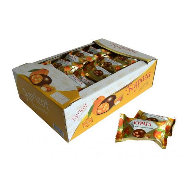 Конфета  'Курага с арахисом '(флоупак)1,8 кг* (БРЕНДИР. ЭКРАН) (ШТРИХ-КОД)